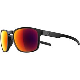 adidas Protean Cykelbriller, black matt/red mirror